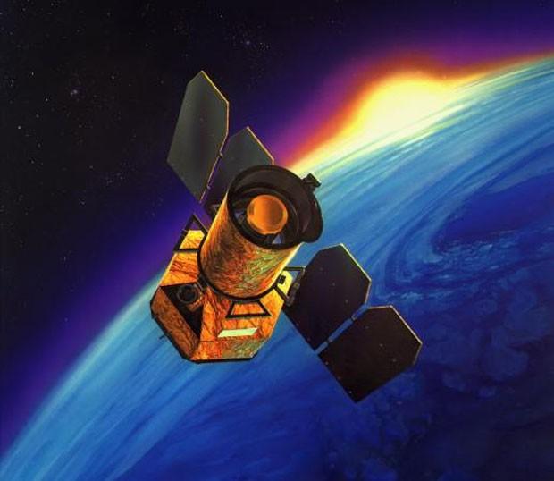 Ilustração mostra o satélite Galex (Foto: Nasa/Divulgação)