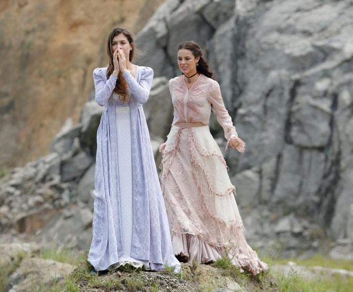 Melissa e Lívia  (Foto: Fábio Rocha / Gshow)