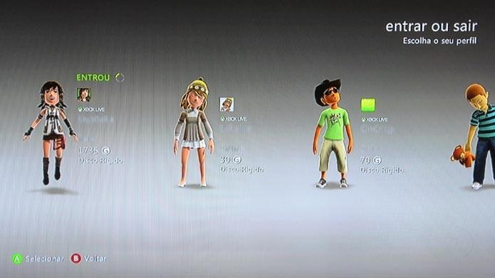 Veja como apagar um perfil de jogador do Xbox 360 (Foto: Reprodução/Tais Carvalho)