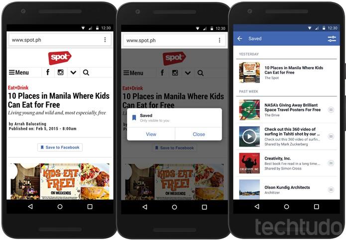 Facebook Social Plugin vai permitir que usuários salvem produtos para comprar depois (Foto: Divulgação/Facebook)