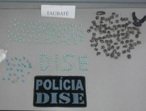 Drogas apreendidas pela polícia. (Foto: Divulgação/Dise)