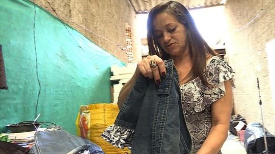 Lúcia de Fátima Pereira criou o 'varal solidário'