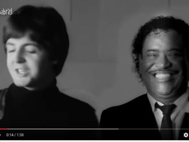 Cumpadi Washington e Paul Mccartney fazem 'parceria' em vídeo  (Foto: Reprodução / YouTube)