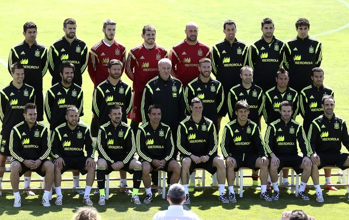 Foto jogadores Espanha (Foto: Efeservicios)