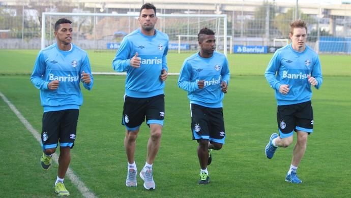 Pedro Rocha Miller Bolaños Maicon Moisés Grêmio (Foto: Eduardo Moura/GloboEsporte.com)