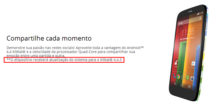 Site da Motorola vaza update da versão 4.4.3 do Android (Foto: Reprodução/Motorola)