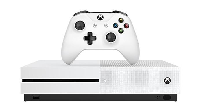 O novo Xbox One S foi apresentado pela Microsoft durante a E3 2016 (Foto: Reprodução/Microsoft)