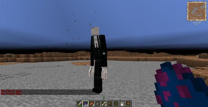Slender em Minecraft (Foto: Reprodução / YouTube)