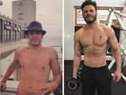 Sertanejo Rodrigo Marim mostra antes e depois de evolução física