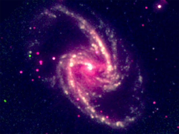 Buraco negro (Foto: Guido Risaliti/Centro de Astrofísica Harvard-Smithsonian)