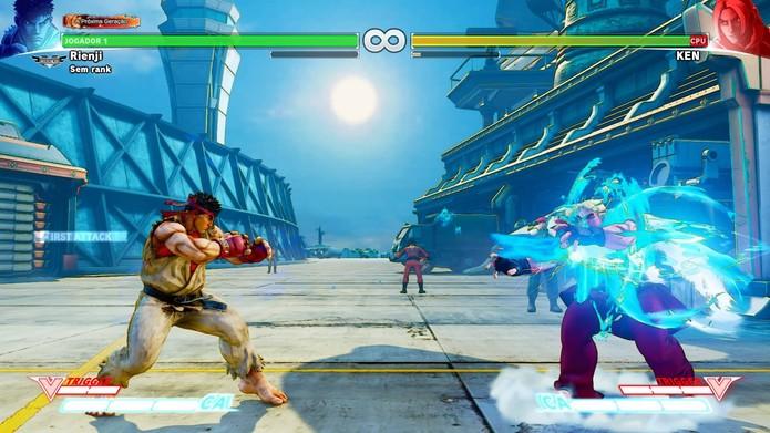 Hadouken é um dos golpes mais famosos de Street Fighter 5 (Foto: Reprodução/Felipe Vinha)