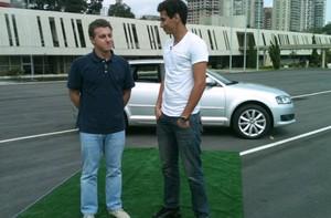 Relembre a estreia do quadro com Huck e Ganso (Caldeirão do Huck/TV Globo)