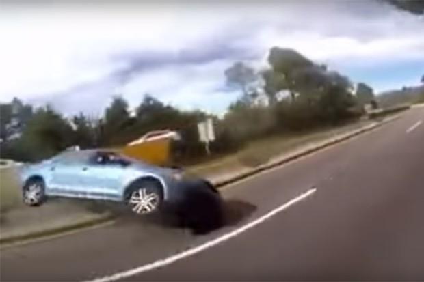 Acidente no México mostra por que puxar o freio de mão em alta velocidade não é boa ideia (Foto: Reprodução)