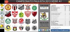 Tabela Campeonato Paulista 2013