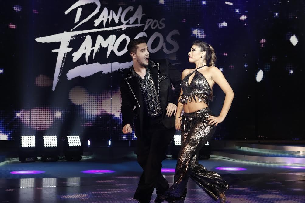 Que dupla! Bruno e Ana Paula Guedes na estreia do 'Dança 2015' (Foto: Inácio Maraes/Gshow)