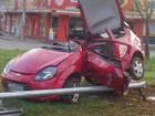 Acidente deixa duas pessoas feridas na Av. Castelo Branco, em Goiânia