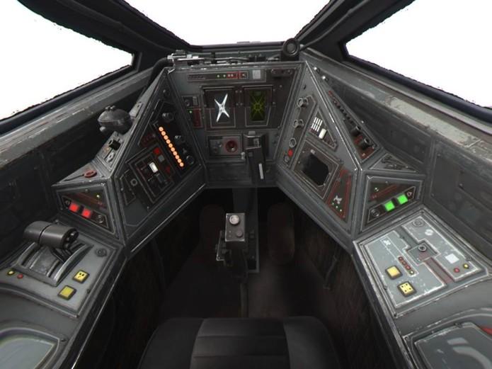 Comande uma X-Wing por dentro (Foto: Reprodução/Felipe Vinha)