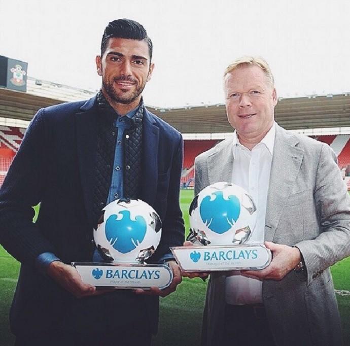 Southampton troféus setembro (Foto: Reprodução/Instagram)