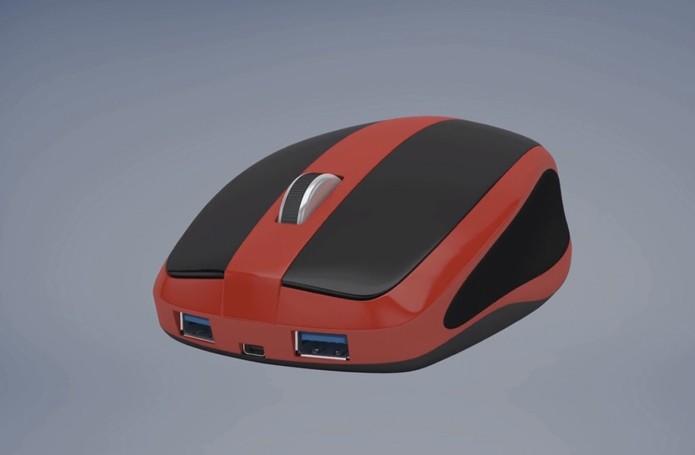 Computador no formato de mouse só precisa se conectar a monitor para funcionar (foto: Reprodução/Mouse-Box)