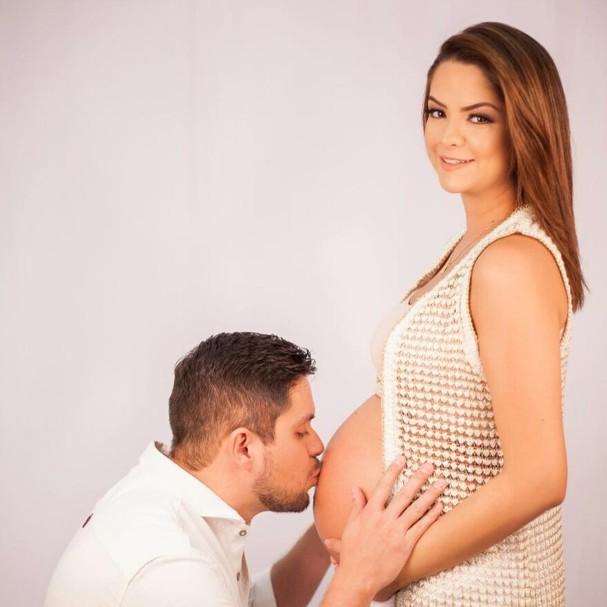 Casal Maria Cecília e Rodolfo espera seu primeiro filho  (Foto: Divulgação)