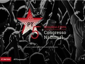 Logomarca do 5º Congresso Nacional do PT (Foto: Reprodução/Agência PT de Notícias)
