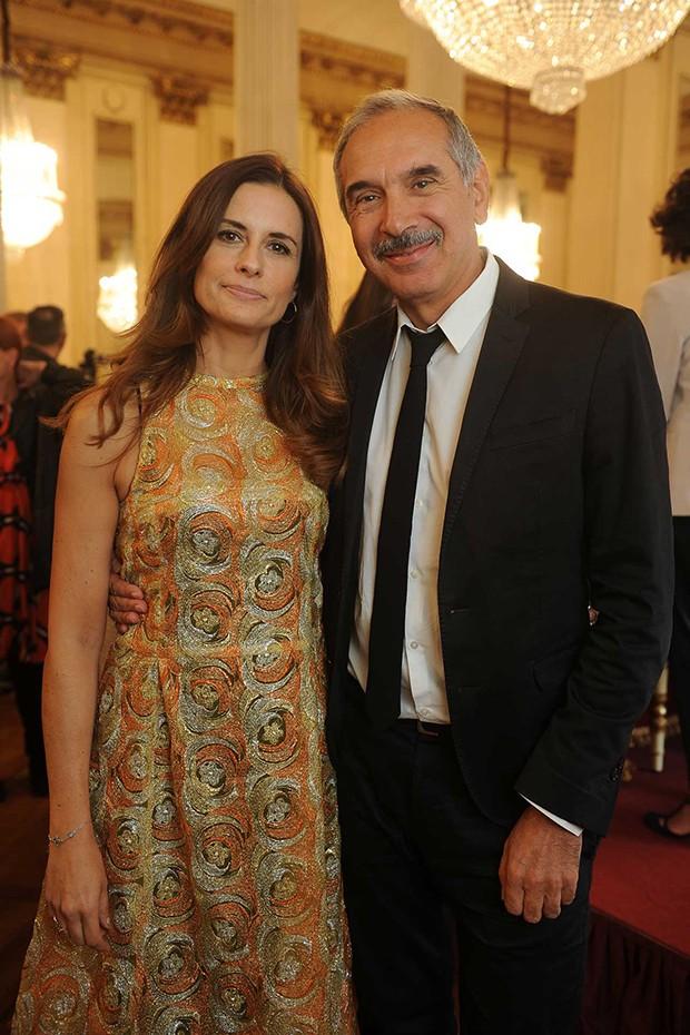 Livia Firth with Carlo Capasa, from Italy's Camera Nazionale della Moda (Foto: ECO-AGE)
