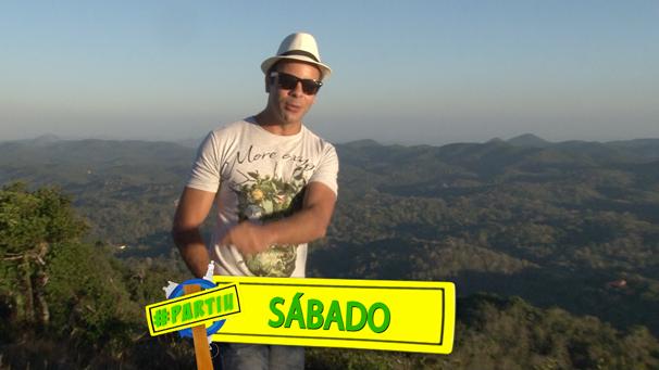 Tep Rodrigues conhece as belezas de Guaramiranga. (Foto: Produção / Verdes Mares)