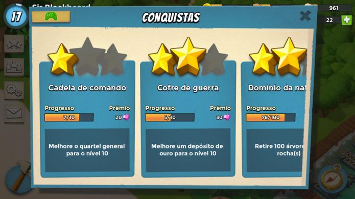 Complete conquistas para conseguir diamantes (Foto: Reprodução/Paulo Vasconcellos)
