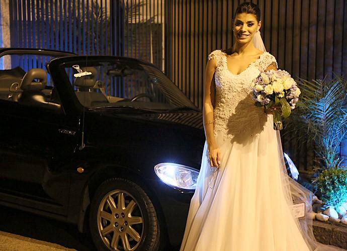 Que noiva mais linda! (Foto: Isabella Pinheiro/Gshow)