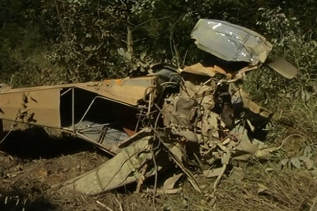 Pioneiro da aviação agrícola morre em queda de aeronave, em Jataí (Foto: Reprodução/TV Anhanguera)