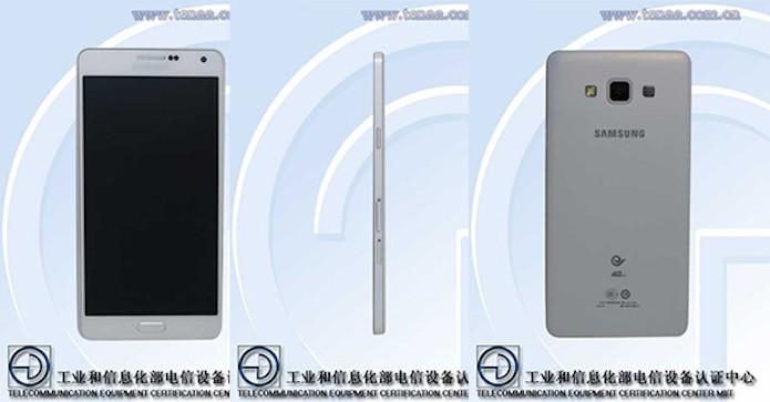 Galaxy A7 vaza em site de órgão que regulamenta as telecomunicações na China (Foto: Reprodução/TENAA)