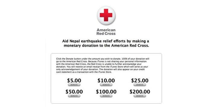 Apple incentiva doações para a Cruz Vermelha Americana (Foto: Reprodução/MacRumors)
