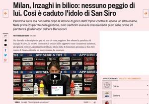 Inzaghi vive momento difícil com o Milan (Foto: reprodução)