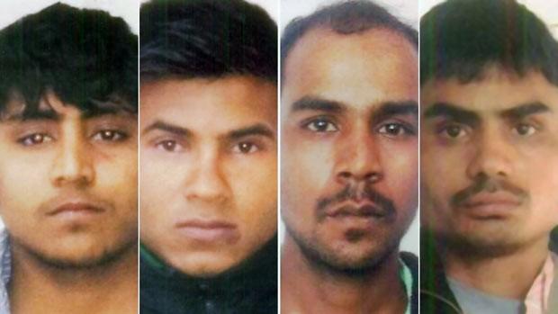 Os quatro condenados: Vinay Sharma , Pawan Gupta, Mukesh Singh, Akshay Thakur  (Foto: Polícia de Nova Déli/BBC)