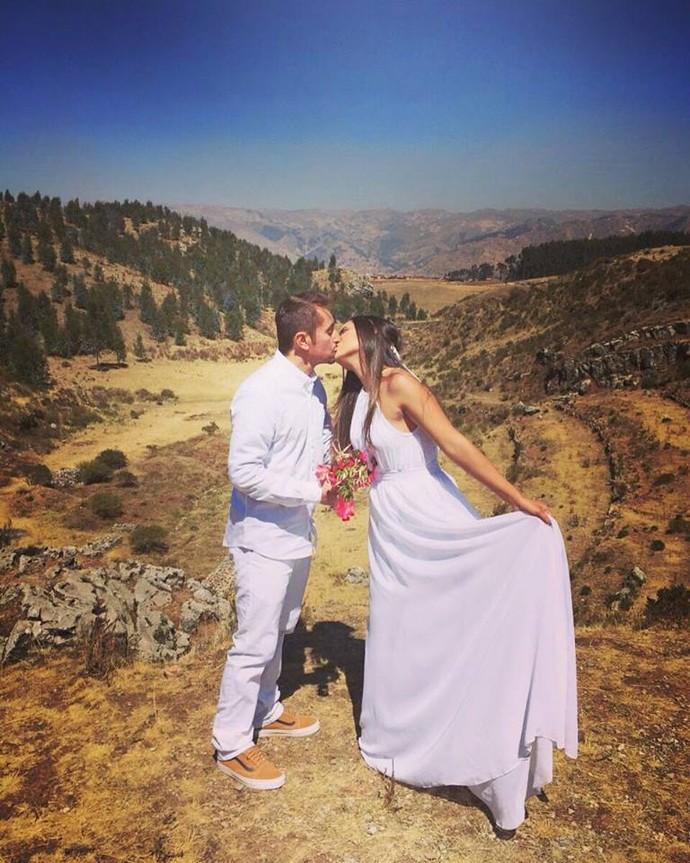 Massulo realiza sonho de casar no Peru (Foto: Arquivo Pessoal)
