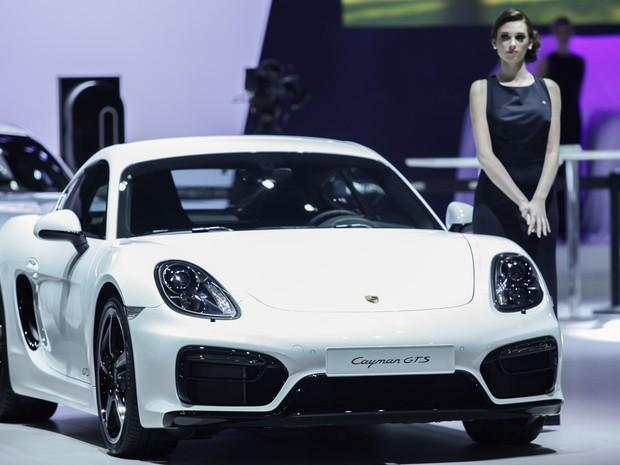 Porsche apresenta Cayman GTS no salão do automóvel de São Paulo (Foto: Caio Kenji/G1)