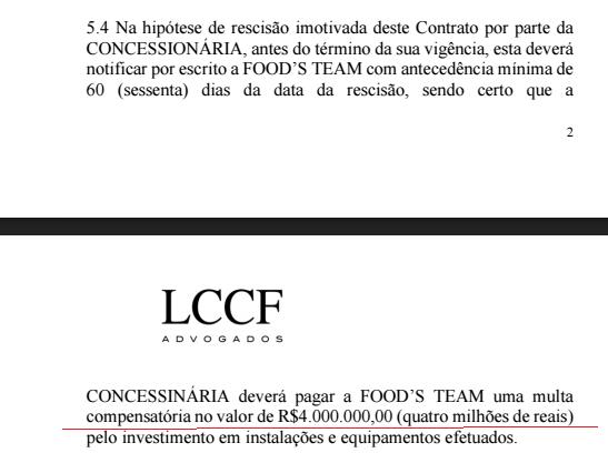 Trecho da notificação na qual Emílio Odebrecht cobra R$ 4 milhões da empresa fundada pelo avô