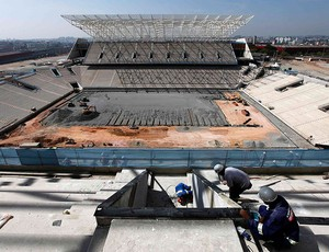 obras Arena Corinthians estádio (Foto: Reuters)