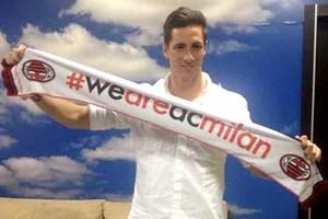 Fernando Torres chegada ao Milan (Foto: Reprodução / Twitter)
