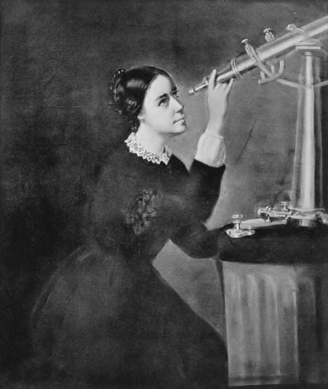 Pintura de Maria Mitchell (Foto: Wikimedia/H. Dasell)