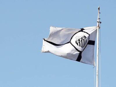 Bandeira do Santos na Vila Belmiro (Foto: Pedro Ernesto Guerra Azevedo/Santos FC)