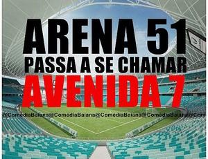 Torcida do Vitória provoca Bahia após goleada por 7 a 3  (Foto: Reprodução)