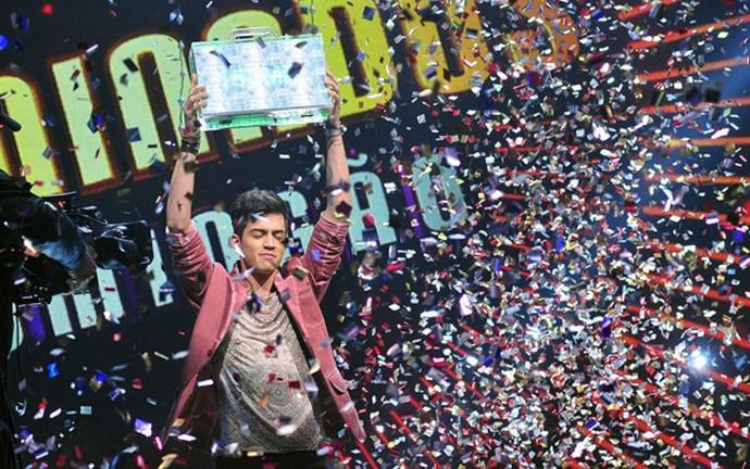Jefferson Moraes vence o 'Iluminados 2015' (Foto: Reinaldo Marques/TV Globo)