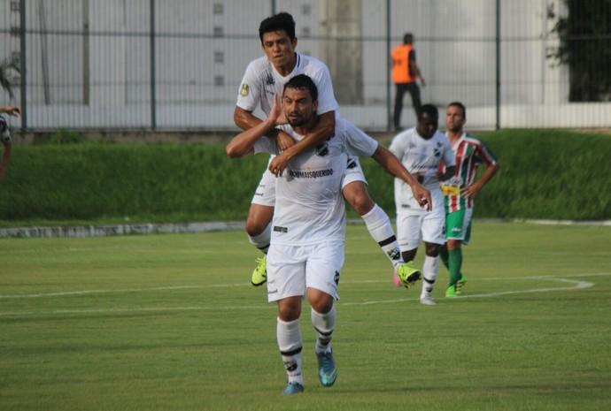Gol de Nando - ABC x Baraúnas Frasqueirão Campeonato Potiguar (Foto: Andrei Torres/ABC FC/Divulgação)