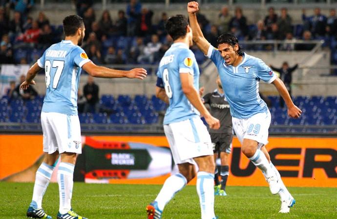 Sergio Floccari  comemoração Lazio  (Foto: Agência AP )