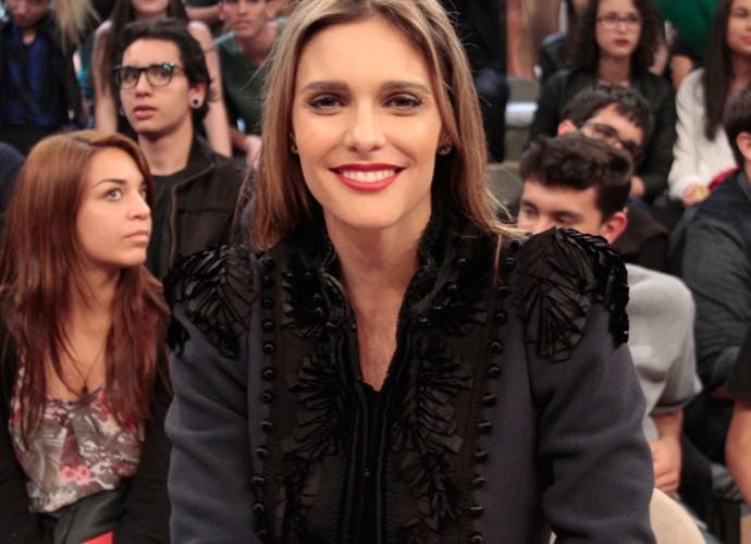 Fernanda Lima participa da gravação do programa 'Altas Horas' (Foto: Marcos Mazini/Gshow)