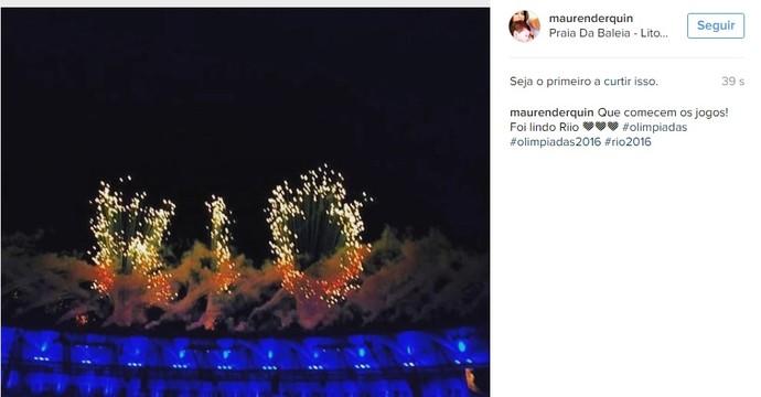 Instagram Olimpíada (Foto: Reprodução Instagram)