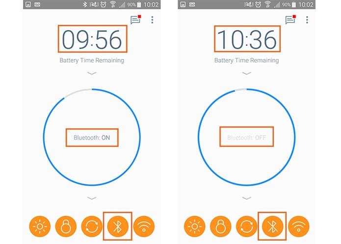 Desative o Bluetooth para ganhar tempo na bateria do Android (Foto: Reprodução/Barbara Mannara)