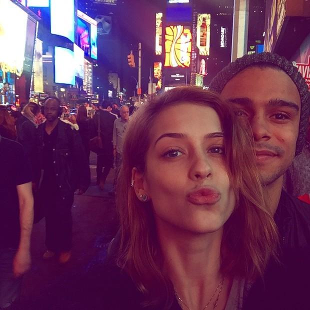 Sophia Abrahão e Sergio Malheiros em Nova York, nos Estados Unidos (Foto: Instagram/ Reprodução)