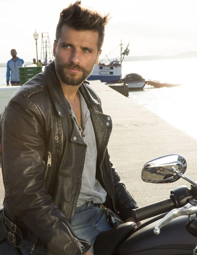 O ator participou das filmagens da novela no estado do Rio de Janeiro (Foto: Lydio Cerqueira/Gshow)